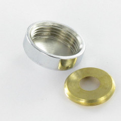 CHROME PLATED BRASS DIAMETER 18 FOR SCREW M6