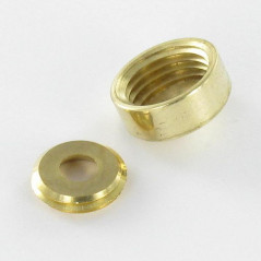 ROS CON 2PIECE BRASS DIAMETER 25 FOR SCREW M6