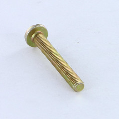 MACHINE SCREW LARGE PAN HEAD SLOTTED 3X10 8 FOR 15 MICR. YELLOW ZINC DIN 85