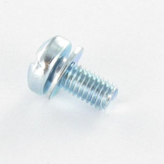 MACHINE SCREW LARGE PAN HEAD SLOTTED 5X10 WASHER CAPTIVE ZINC PLATED DIN 7985  TORX
