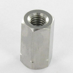 COUPLING NUT HEXAGONAL STAINLESS STEEL A2 M5 LENGHT 15