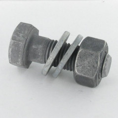 BOLT WITH NUT HR 24X100 CLASS 10.9 HOT DIP GALVANIZED