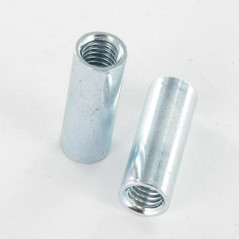 COUPLING NUTS CYLINDRICAL 8X22 M6 ZINC PLATED