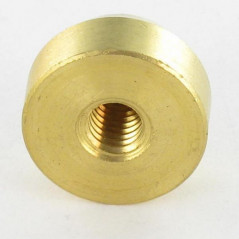 COVER CAP FLAT BRASS 15 INNER THREAD M4 BLIND HOLE