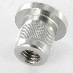 NUT BINDER FLAT HEAD KNURLED 8X9 M5X8.5 STAINLESS STEEL