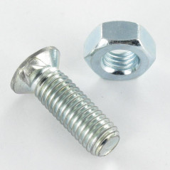 PLOW BOLT COUNTERSUNK HEAD 2 ERGOTS 12X45 CLASS 8.8 ZINC PLATED