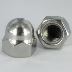 NUT CAP STAINLESS STEEL A2 M8 WAX