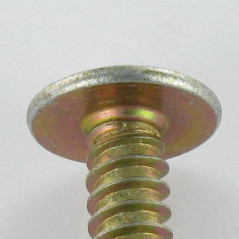 THREAD ROLLING SCREW MUSHROOM POZI 6.3X25 YELLOW ZINC DIN 968C