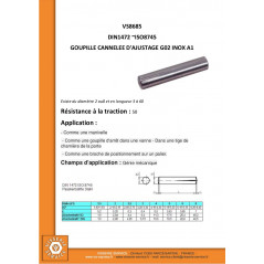 GOUPILLE CAN AJUST G02 INOX A1 2X5