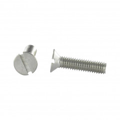 MACHINE SCREW STAINLESS STEEL A2 COUNTERSUNK HEAD SLOTTED 2X8 DIN 963 ISO 2009