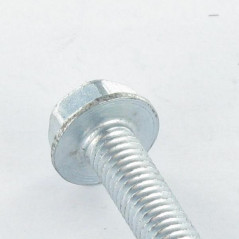 SELF TAPPING SCREW HEXAGONAL HEAD FLANGE SMOOTH 6X30 ZINC PLATED DIN 7500D  VS3130