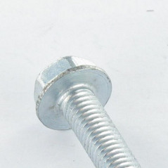 SELF TAPPING SCREW HEXAGONAL HEAD FLANGE SMOOTH 4X6 ZINC PLATED DIN 7500D  VS3130