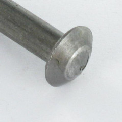 RIVET CHEESE HEAD 2.6X20 0-0.10 BRASS PLATED STEEL NFE 27152G