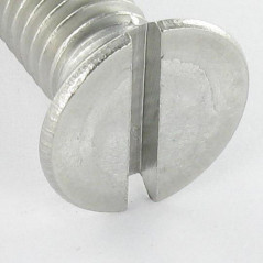 MACHINE SCREW STAINLESS STEEL A2 COUNTERSUNK HEAD SLOTTED 8X16 DIN 963 ISO 2009