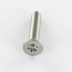 MACHINE SCREW STAINLESS STEEL A2 SECURITY COUNTERSUNK HEAD T20 DOG POINT 4X20
