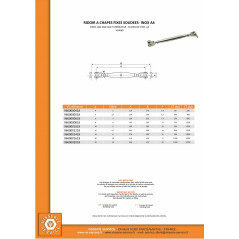 WELDED FIXED JAW AND TURNBUCLKLE DIAMETER 6