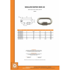 QUICK LINK FOR CHAINS STAINLESS STEEL A4 10 VS9637