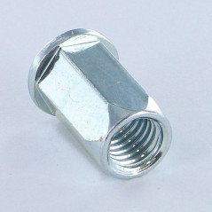 NUT RIVET HEXAGONAL FLAT HEAD M6 ACPTH 30 ZINC PLATED