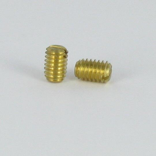MACHINE SCREW BRASS WITHOUT HEAD SLOTTED CONE POINT