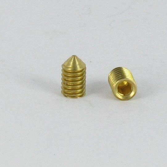 MACHINE SCREW SOCKET HEAD HEXAGON RECESS CONE POINT BRASS DIN 914