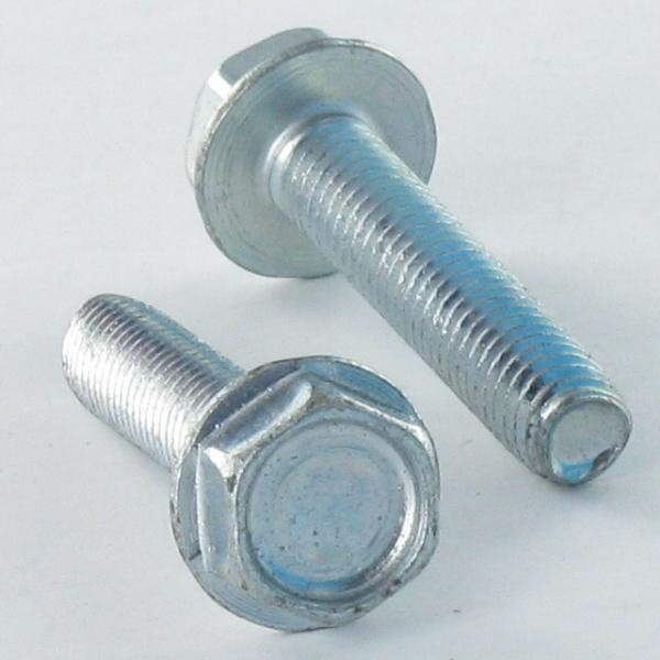 SCREW SELF TAPPING HEXAGONAL HEAD FLANGE SMOOTH 3 LOBED DIN 7500 D