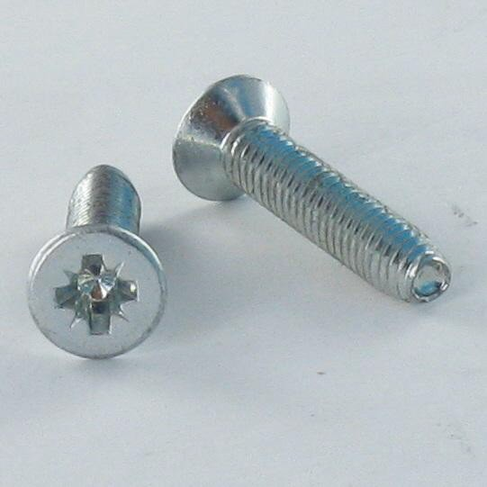SCREW SELF TAPPING COUNTERSUNK HEAD POZI 3 LOBED DIN 7500 M STEEL