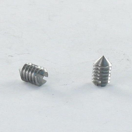 SCREW MACHINE WITHOUT HEAD SLOTTED CONE POINT