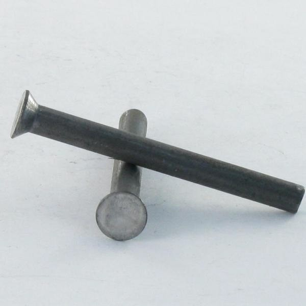 SOLID RIVET COUNTERSUNK HEAD STEEL NFE 27154 SLOTTED