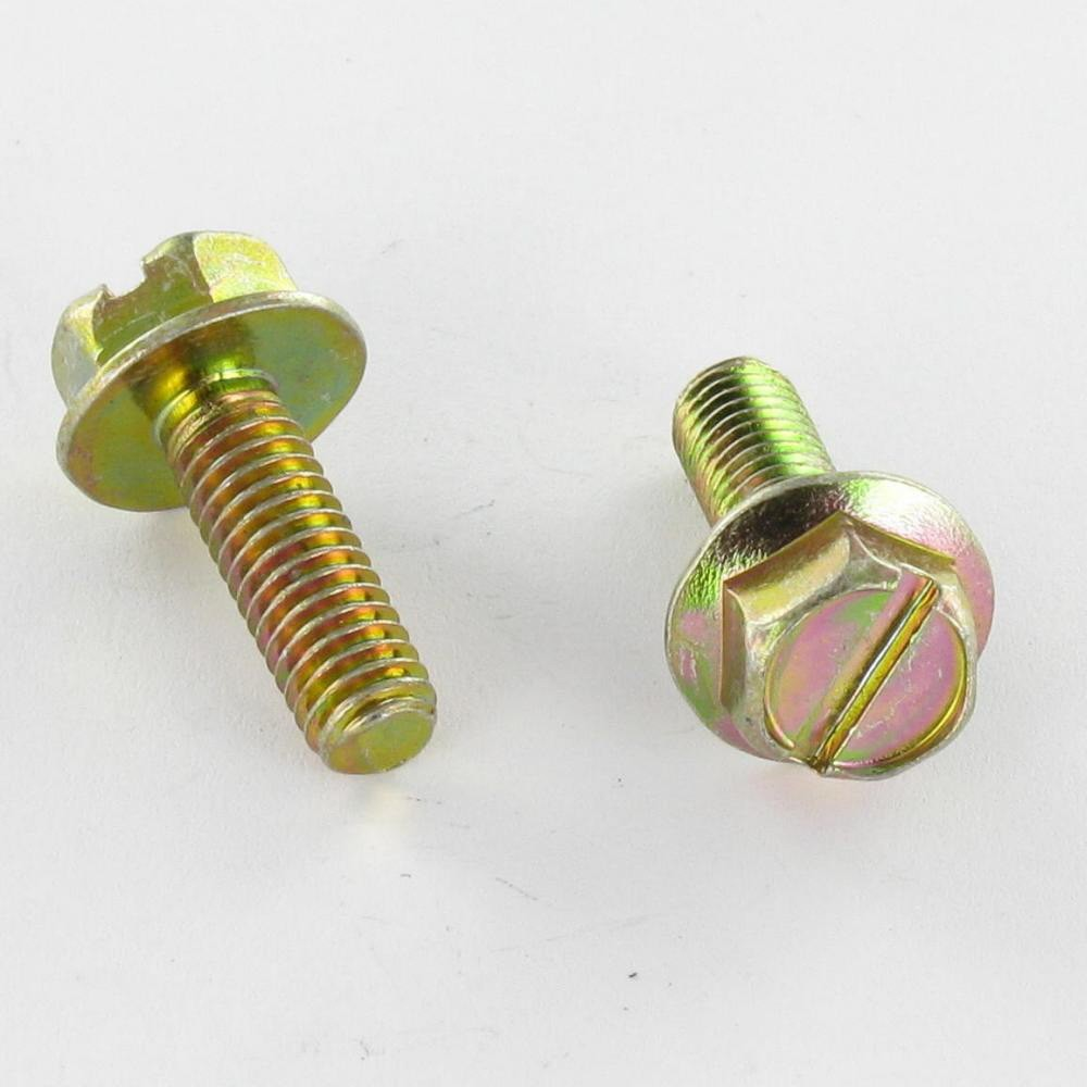 SCREW MTEAUX HEX HEAD FLANGE SLOTTED