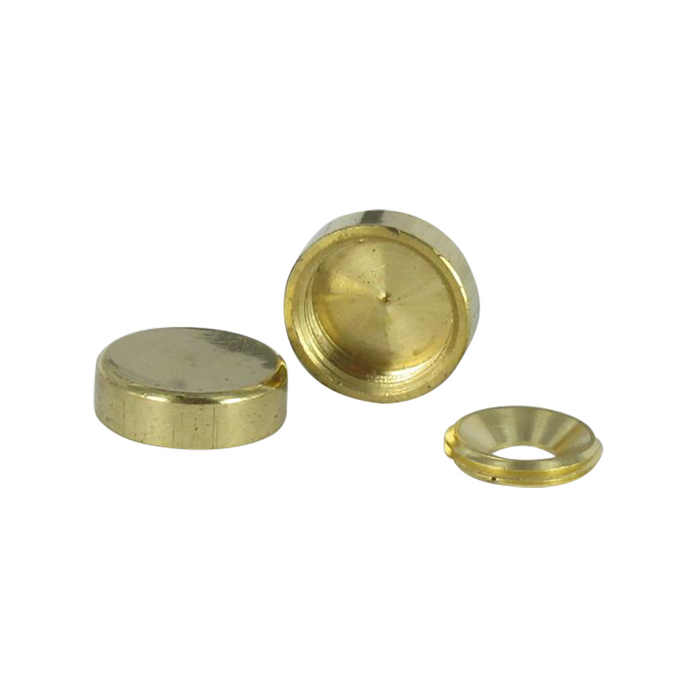 CYLINDRICAL COVER CAP BRASS 2 PIECES