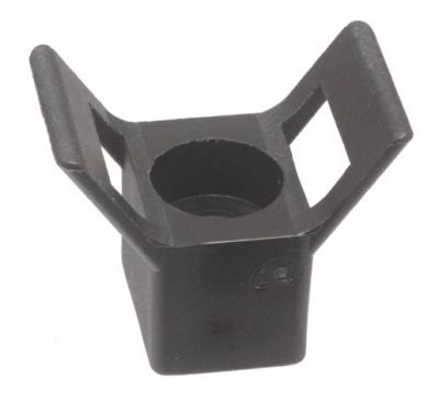 CABLE TIE MOUNTS - FORM SADDLE BLACK