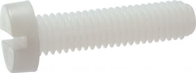 MACHINE SCREW LARGE PAN HEAD NYLON SLOTTED DIN 85 NFE 25128