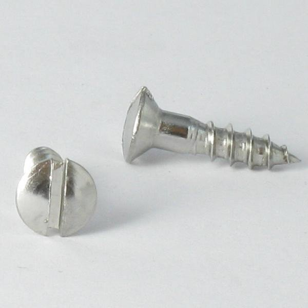 WOOD SCREWS PAN COUNTERSUNK HEAD SLOTTED STAINLESS STEEL A2 DIN 95