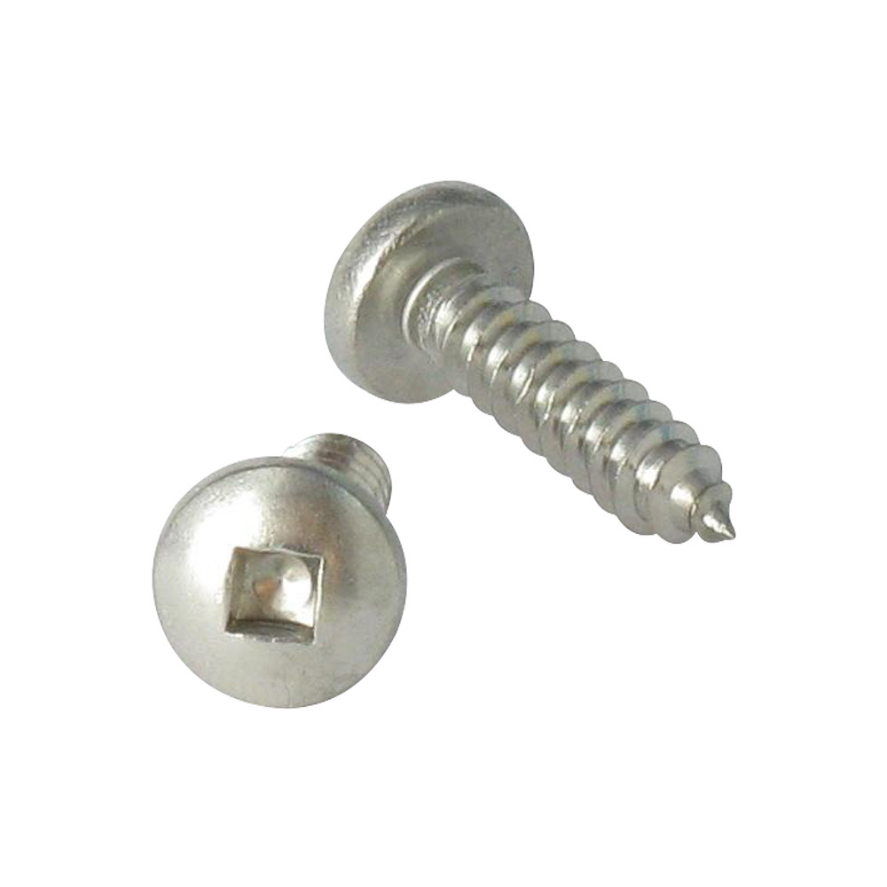 THREAD ROLLING SCREW PAN HEAD SQUARE STAINLESS STEEL A2 DIN 7981