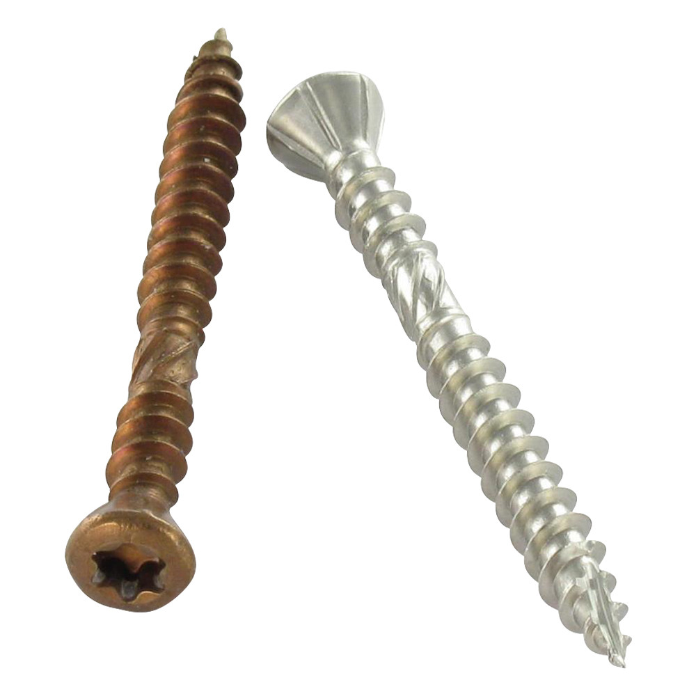 DECKING SCREW COUNTERSUNK HEAD REDUCED DOUBLE THREAD ROD